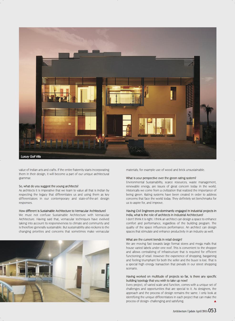 Architecture Update Magazine - Sheila Sri Prakash